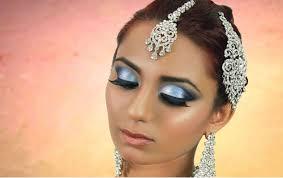 blue smokey eye makeup indian stani