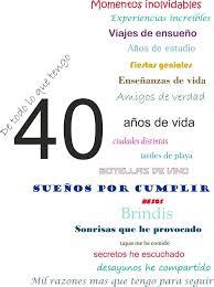 Resultado De Imagen Para Frases Invitacion 40 Cumpleanos
