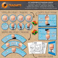 Kit Imprimible Boss Baby Jefe En Panales Personalizado Candy