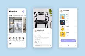 free interior design app template xd