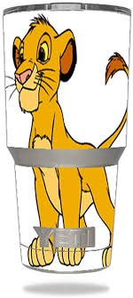 Amazon Com Smarter Designs Cartoon Lion Cub Film Character Vinyl Decal Sticker For Yeti Rambler Tumbler 30 Oz Ounce Sports Outdoors