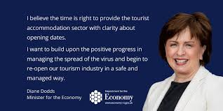 "Economy NI on Twitter: ""@Economy_NI Minister Diane Dodds announces  re-opening plan for hotels and other tourist accommodation ➡️  https://t.co/U1JjwwU1PN… https://t.co/8sraZugJMn"""