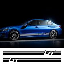 2pcs Car Side Sticker For Ford Toyota Renault Peugeot Auto Vinyl Film Racing Decal Car Tuning Accessories Wish
