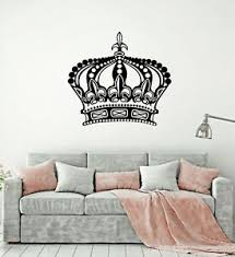 Vinyl Wall Decal King Queen Crown Royal Emperor Stickers Mural G1388 Ebay