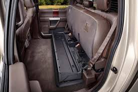 the ford super duty has a lockable