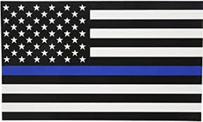Amazon Com Thin Blue Line Flag Decal Super X Large 8x4 8 In Black White And Blue American Flag Sticker For Cars And Trucks In Support Of Police And Law Enforcement Officers Super