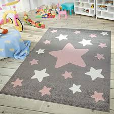 Amazon Com Rug For Kids Room Nursery Starry Sky Star Pattern Playroom In Dark Gray Pink White Size 3 11 X 5 7 Home Kitchen