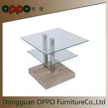 china modern square glass coffee table