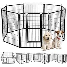 Yaheetech 39 H 8 Panel Portable Metal Fence Folding Pet Playpen With Door Gate For Large Small Animals Outdoor Indoor Dog Cat P Dog Playpen Indoor Dog Dog Pen