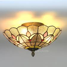 tiffany style vintage light stained