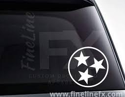 Tennessee Stars State Flag Vinyl Decal Sticker