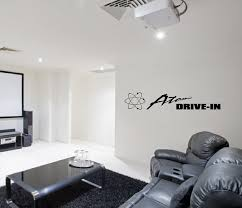 Vinyl Wall Decal Atomic Drive In Home Theater Wall Lettering Decal 22136 On Luulla