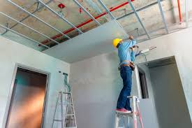 drop ceiling or drywall ceiling which