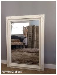 large baroque wall mirror antique white