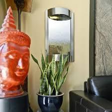 h wall fountain silver mirror