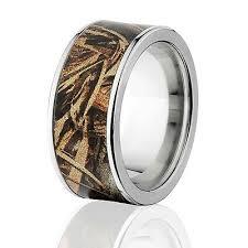 anium ring camo wedding bands