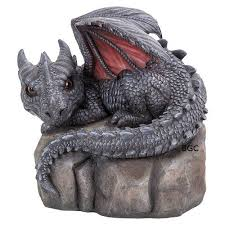 baby dragon stone large ornament by