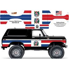Dominican Flag Traxxas Trx4 Ford Bronco Body Skin Wrap Decal Ultradecals Powerhobby Com