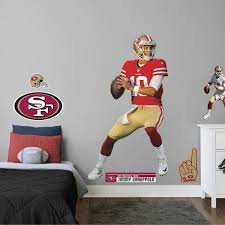 Jimmy Garoppolo Home Officially Licensed Nfl Removable Wall Decal