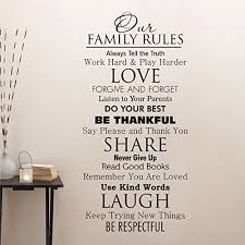 Ditooms Family Quotes Wall Decal Our Family House Rules Home Love Do Your Best Wall Art Vinyl Decal F Family Wall Quotes Family Rules Family Wall Decals Quotes