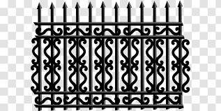 Fence Gate Iron Railing Clip Art Symmetry Black Cliparts Transparent Png