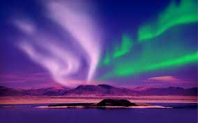 northern lights image colorful