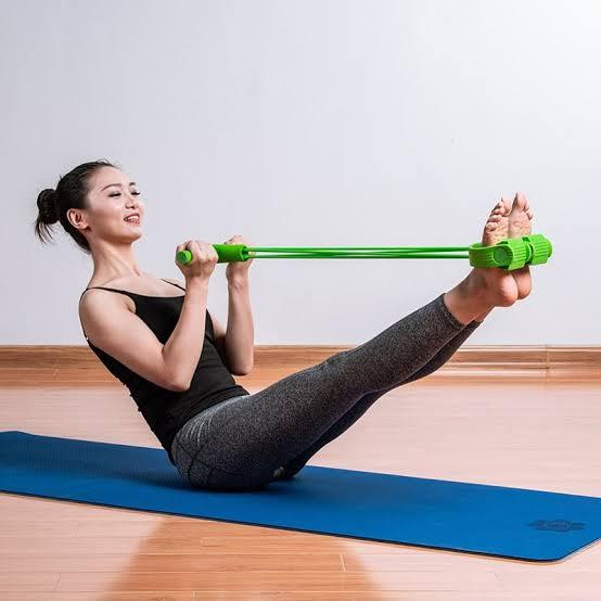 "Resultado de imagem para Indoor Fitness Resistance Bands Exercise Equipment Elastic Sit Up Pull Rope Workout Bands Sport Pedal Ankle Puller"""
