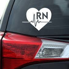 Rn Heart Decal Southern Caliber Decals