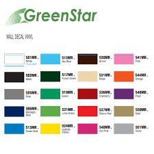 Greenstar Wall Decal Vinyl 24 X 10 Yards Super Bowl Team Colors