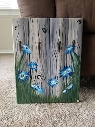 Landscape Acrylic Painting Flower Painting Wood Fence Etsy