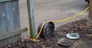 Viral Zone 24 Use Of Rire Rim Tow Rope And Truck To Remove 4 4 Fence Posts