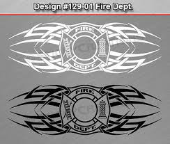 129 01 Fire Dept Firefighter Rear Window Decal Sticker Vinyl Graphic Tribal Car Auto Parts And Vehicles Car Truck Graphics Decals Magenta Cl
