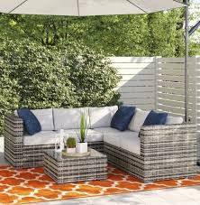 oryana 4 seater rattan corner sofa set