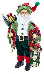 18 kringle klaus red and green santa