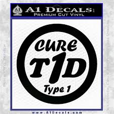 Type 1 Diabetes Support Decal Sticker Ribbon A1 Decals