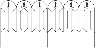 Amazon Com Amagabeli Garden Fence 24inx10ft Outdoor Decorative Fencing Landscape Wire Fencing Folding Wire Patio Border Edge Section Fences Flower Bed Animal Barrier Decor Picket Black Rustproof Panels Wire Fc04 Garden