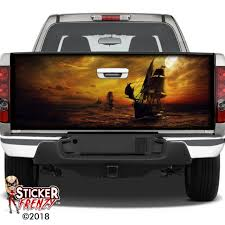 Pirate Ship Car Rear Window Graphic Decal See Through Sticker Truck Suv Van 056