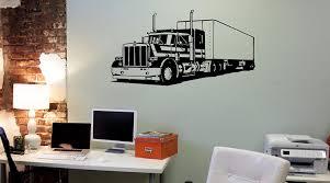 18 Wheeler Semi Big Rig Trailer Car Truck Driver Window Vinyl Decal Sticker