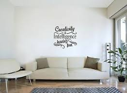 Creativity Is Intelligence Having Fun Quote Love Wall Art Decal Sticker New Ebay