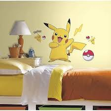 Pokemon Pikachu Peel And Stick Wall Decals Walmart Com Walmart Com