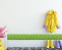 Grass Mural Border Decal Peel Stick Grass For Kids Rooms