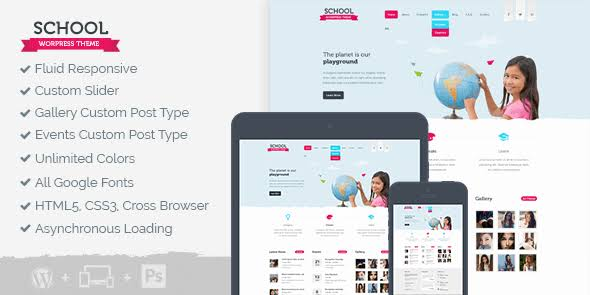 MyThemeShop School WordPress Theme
