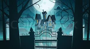Gothic Castle Behind Gates In Stock Vector Colourbox