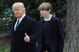 Barron Trump brings his fifth-grade ...