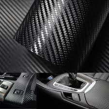 Black 5d Carbon Fiber Car Body Film Vinyl Self Adhesive Wrap Sticker Buy At A Low Prices On Joom E Commerce Platform