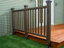 Pictures Of Deck Railings Types Materials Small Railing Ideas Designs Home Elements And Style Lowe S Kits Wood Modern Horizontal Building Stair Crismatec Com