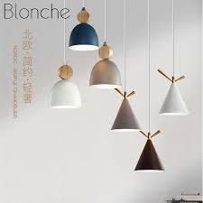 nordic led wooden pendant lights modern