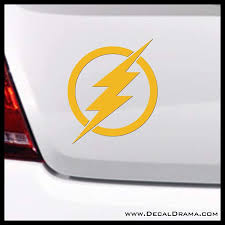 Amazon Com The Flash Barry Allen Dc Cmics Inspired Small Vinyl Car Laptop Decal Handmade