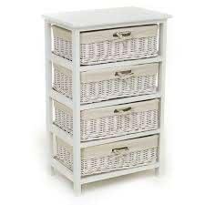 white willow 4 drawer storage unit