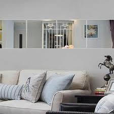 9 pcs set 15 x 15cm square mirror wall